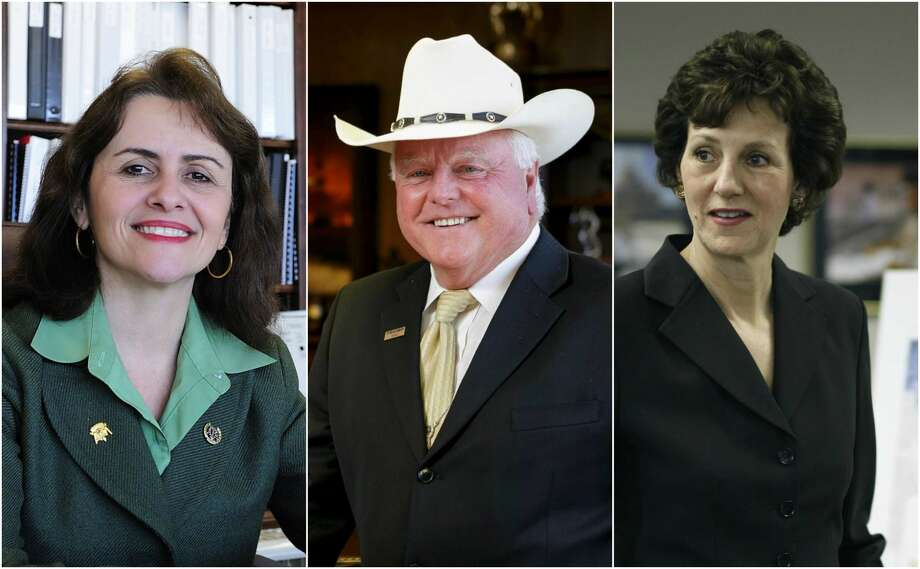Three Texans are in contention for the top agriculture job in Donald Trump's White House. From left: former Texas A&M University President Elsa Murano, Texas Agriculture Commissioner Sid Miller, and Susan Combs, a former Texas agriculture commissioner and comptroller.