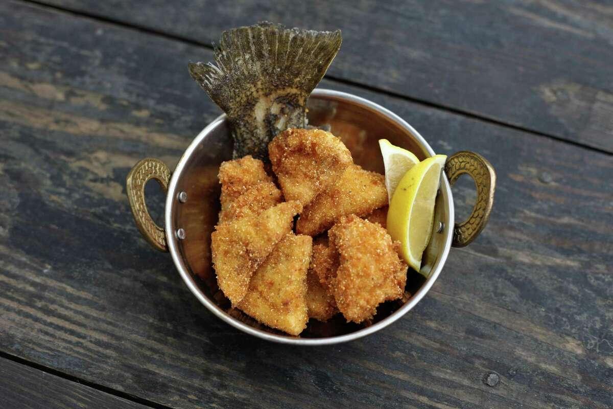 Gulf flounder karaage from Riel restaurant, Houston.