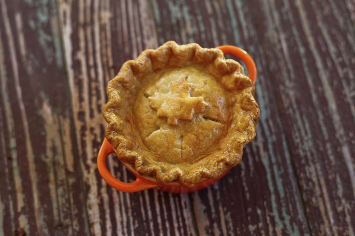 Tourtiere (meat pie) from Riel restaurant, Houston.
