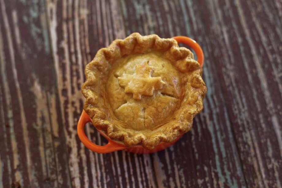 Tourtiere (meat pie) from Riel restaurant, Houston. Photo: Mark C. Austin