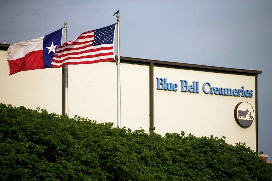 "FILE - In thus April 23, 2015 file photo, flags flutter in the breeze outside of the Blue Bell Creameries in Brenham, Texas. A supplier of cookie dough that Blue Bell Creameries is blaming for a possible listeria contamination of some of its ice cream products says its product tested negative for the pathogen before being sent to the Texas-based company. In a statement Thursday, Sept. 22, 2016, Iowa-based Aspen Hills said the ""positive listeria results were obtained by Blue Bell only after our product had been in their control for almost two months."" (Smiley N. Pool/The Dallas Morning News via AP, File) Photo: Smiley N. Pool, MBR / The Dallas Morning News"