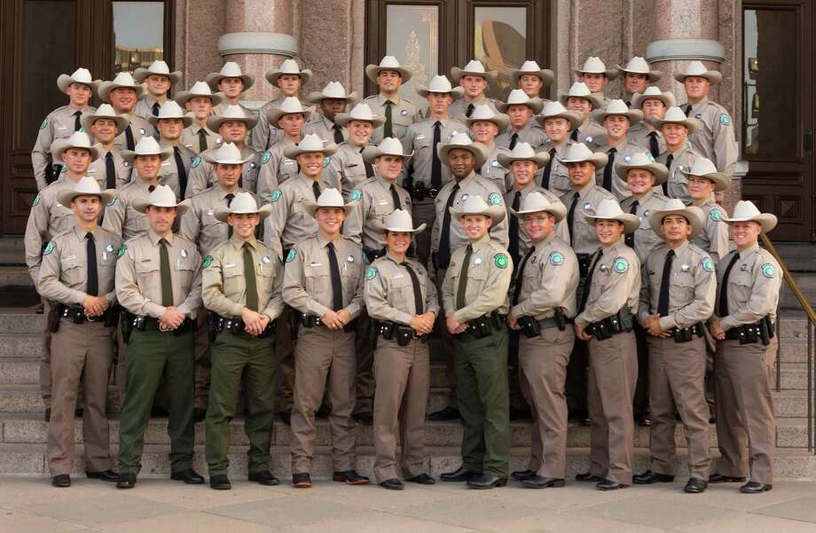 Preparing to head out across the state after graduating in August, the 60th Texas game warden cadet class of 41 game warden cadets and five state park police officers poses at the State Capitol. Photo: Earl Nottingham / Texas Parks & Wildlife Deptartment / Texas Parks & Wildlife Department