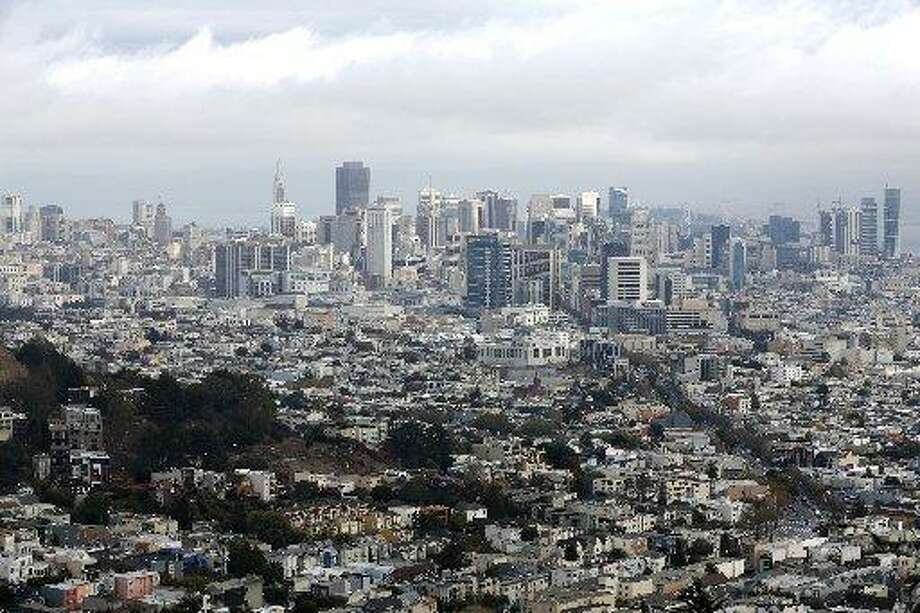 The San Francisco skyline is seen in this 2016 file photo. Residents around the city reported smelling a mysterious odor two days in a row in several neighborhoods. Photo: Connor Radnovich / The Chronicle / /