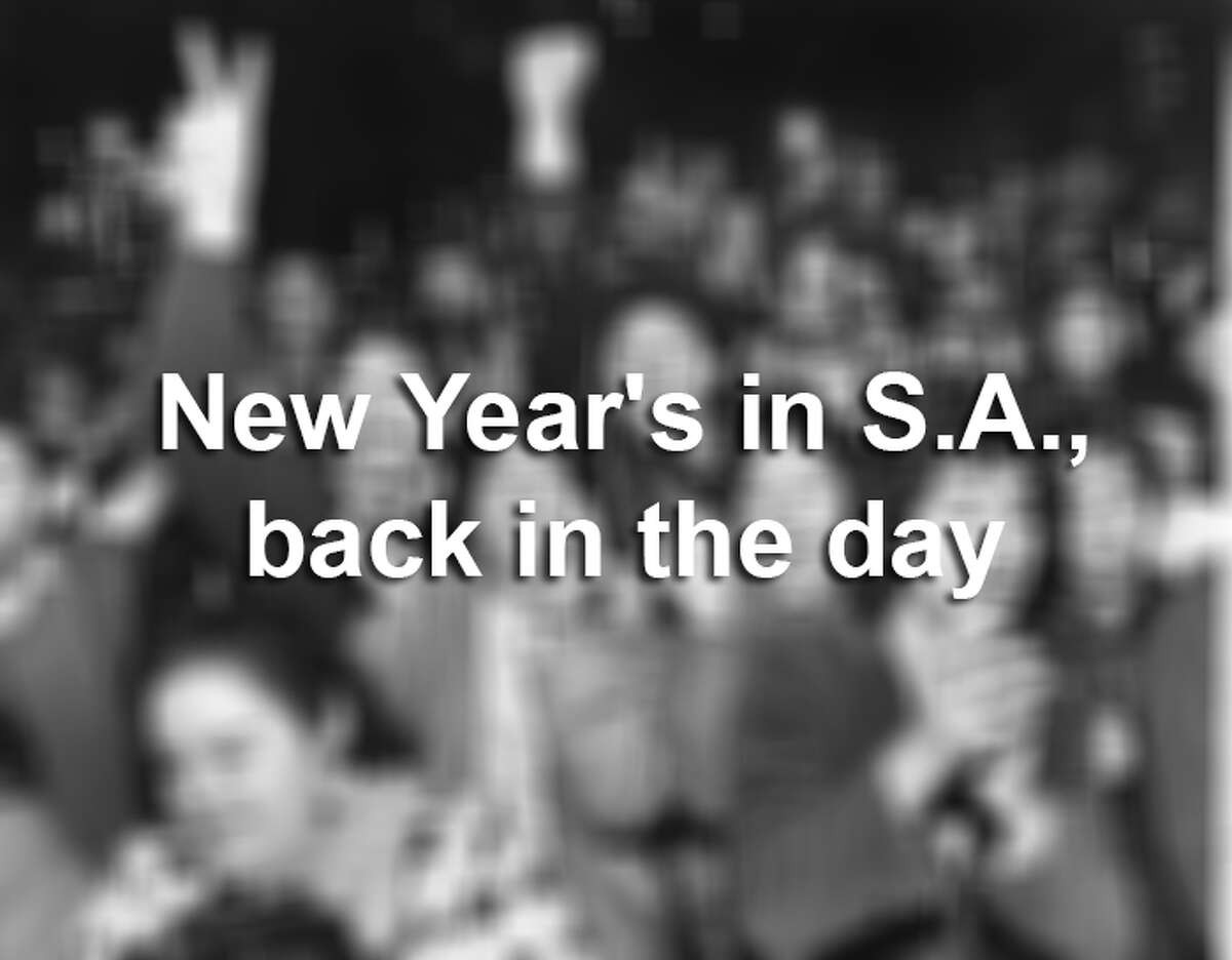 Long before Hemisfair Park was the heart of San Antonio's New Year celebration, Alamo Plaza was the place to be. Old photos from the San Antonio Express-News archive show the historic district lit up like New York's Times Square.