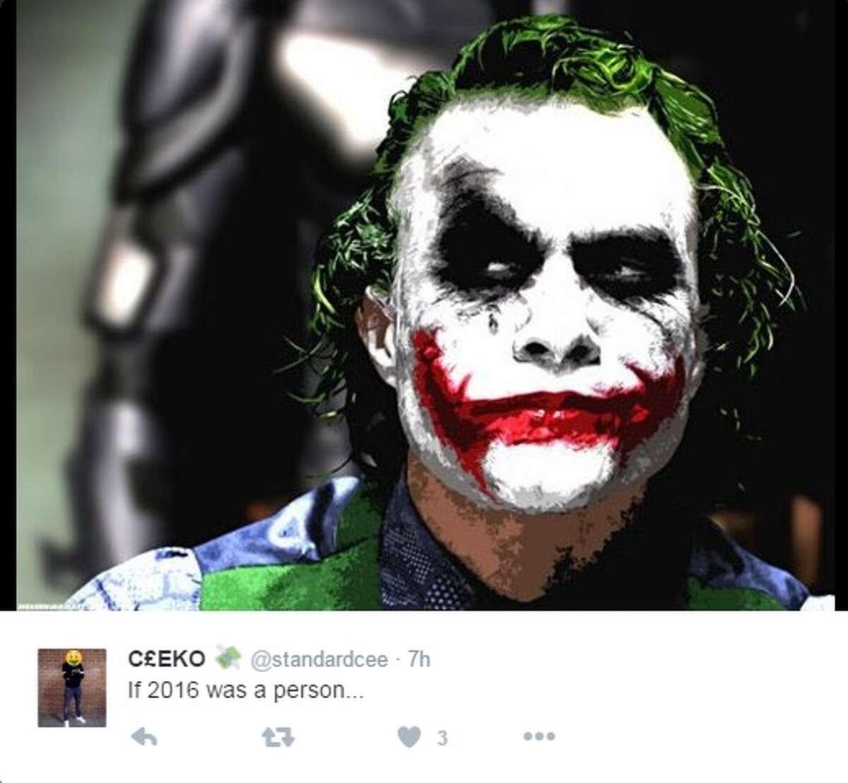 """The Joker The Joker was the villain in the movie """"The Dark Knight."""""""