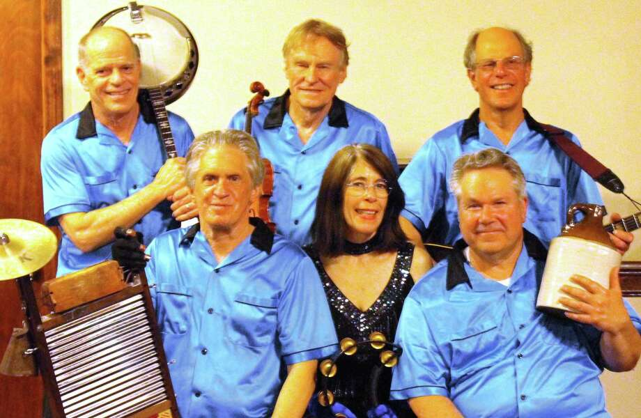 Washboard Slim and the Bluelights, a jug band that plays jubilant sounds with instruments like tub bass, washboard, jug, ukulele, kazoo, banjo, harmonica, accordion, mandolin and fiddle, will play First Night Westport on New Year's Eve. Photo: Contributed Photo