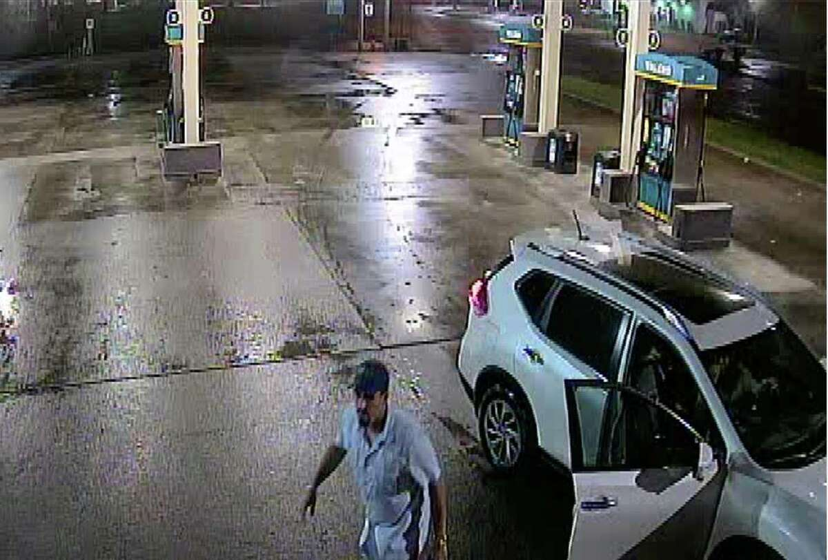 Deer Park police are looking for a man who broke the front door glass of a gas station on Dec. 17, 2016.
