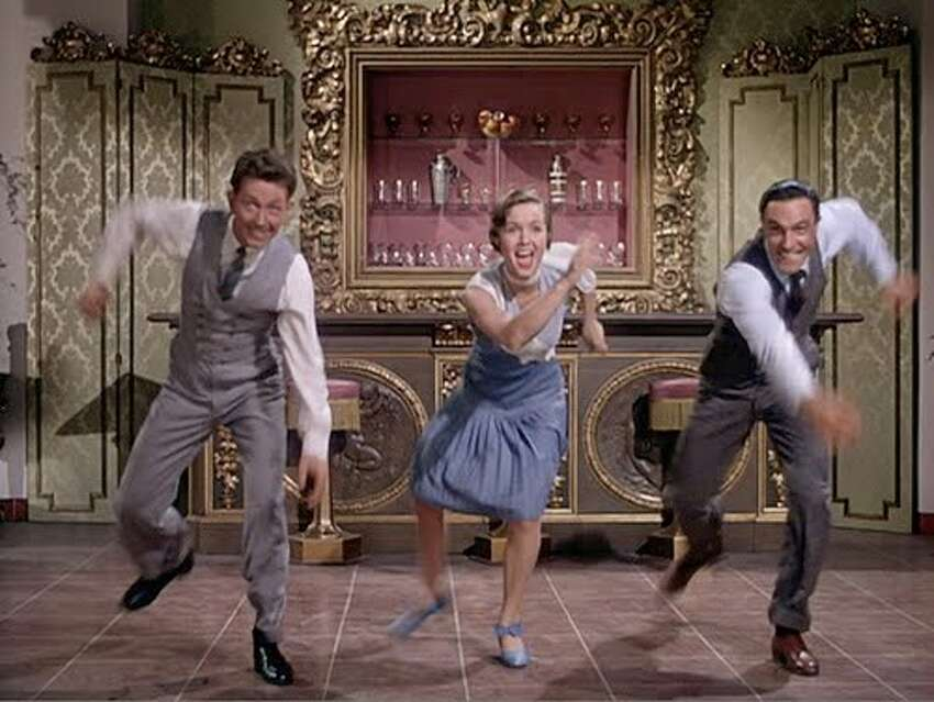 With Donald O'Connor and Gene Kelly