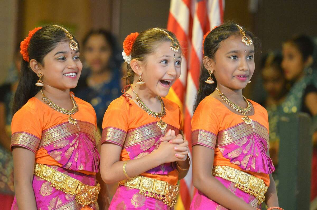 AUGUST 14 : Dancers with the Arunodhaya Dance Academy and members of clergy representing different faiths along with the public and guests of honor take part in an Interfaith Prayer Service for World Peace to celebrate India's Independence Day at St. Philip Church school hall.