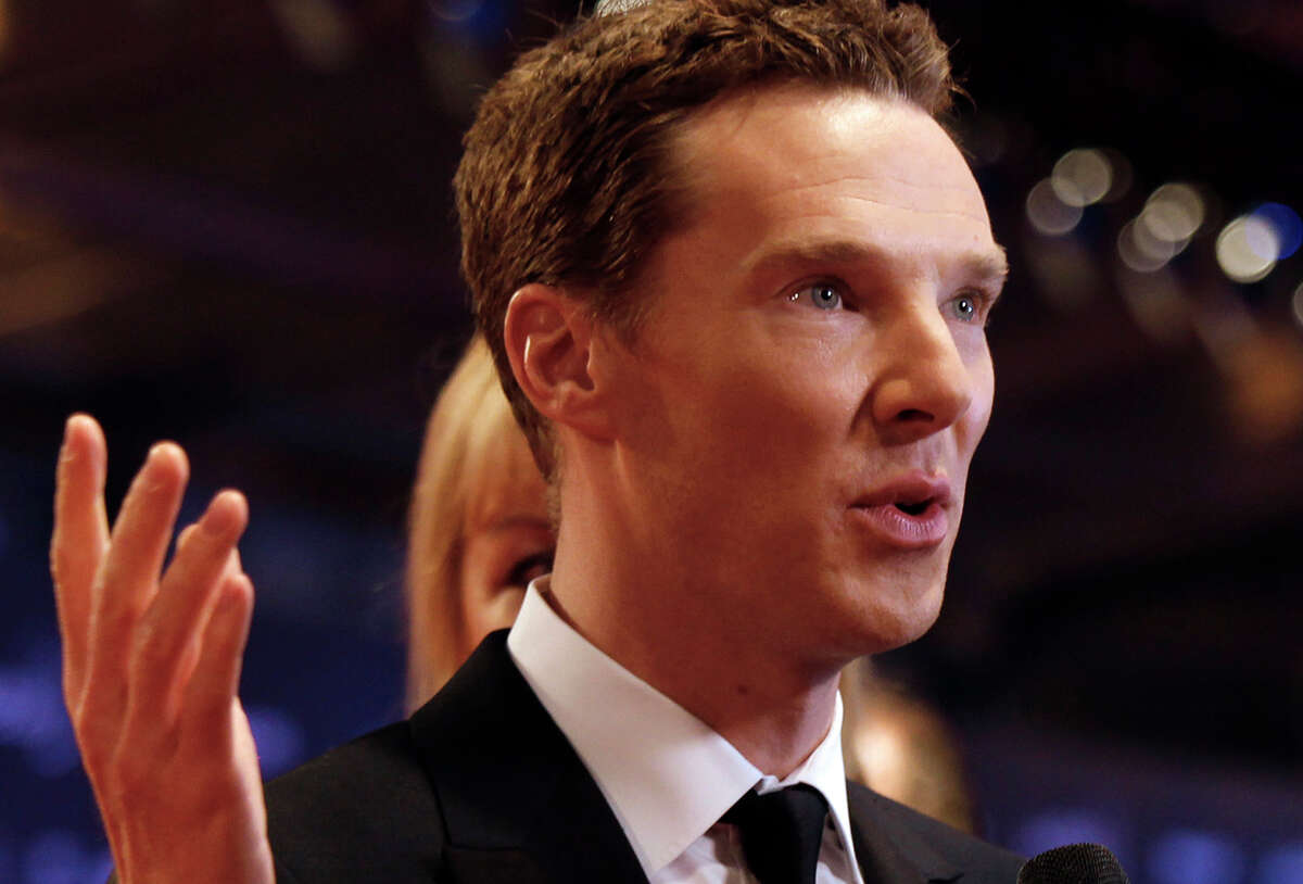 """FILE - In this file photo dated Wednesday, April 15, 2015, British actor Benedict Cumberbatch arrives to host the Laureus World Sports Awards in Shanghai, China. The first of three new episodes of """"Sherlock"""" will be broadcast Sunday Jan. 1, 2017, on BBC TV in Britain, with Cumberbatch once again taking on the role of the brilliant, demanding detective Sherlock Holmes. (AP Photo, FILE)"""