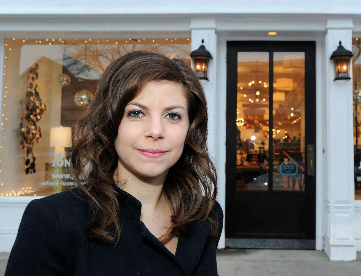 Greenwich-based interior designer Brittany Zachos of the Zachos Design Group, on Greenwich Avenue in Greenwich, Conn., Friday, Dec. 23, 2016.
