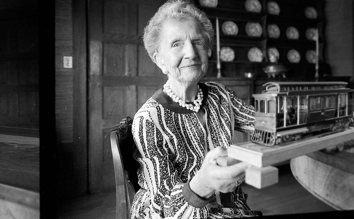 Mrs. Hans Klussmann ( Friedel Klussmann) worked tirelessly to save the Cable Cars in San Francisco, 1982
