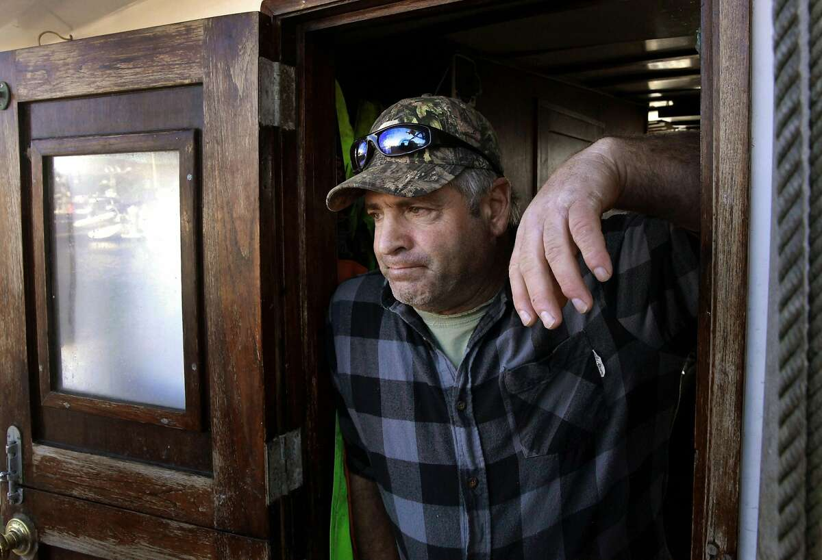 Chris Lawson owner of the Seaward waits for the word to resume fishing for crab while docked in the Spud Point Harbor, as seen on Thursday December 29, 2016, in Bodega Bay, California. Crab fisherman along the coast from Bodega Bay to the Canadian border are holding a strike over the price of crab they are being offered from buyers.