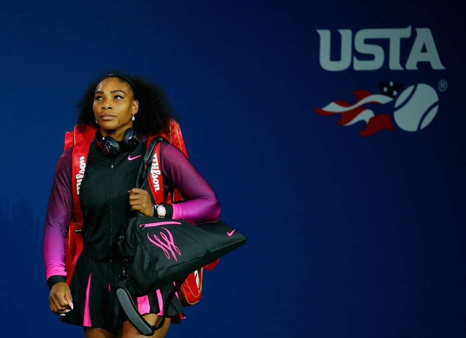 NEW YORK, NY - SEPTEMBER 08:  Serena Williams of the United States walks onto the court before playing against Karolina Pliskova of the Czech Republic during her Women's Singles Semifinal Match on Day Eleven of the 2016 US Open at the USTA Billie Jean King National Tennis Center on September 8, 2016 in the Queens borough of New York City.  (Photo by Mike Stobe/Getty Images for USTA) Photo: Mike Stobe/Getty Images For USTA