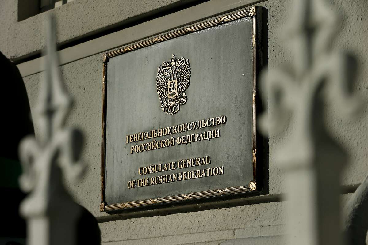 A sign outside the Consulate-General of Russia in San Francisco on Thursday, Dec. 29, 2016 in San Francisco, Calif. President Obama expelled 35 Russian nationals, including those working at the Russian Consulate in Pacific Heights, and sanctioned five Russian entities and four individuals for an alleged cyber assault on Democratic political organizations during the 2016 presidential campaign.