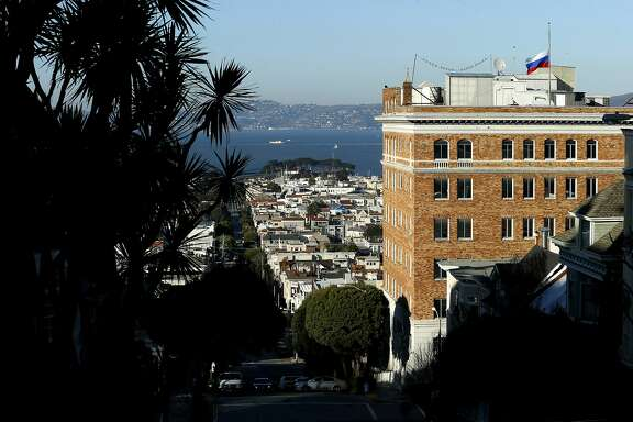 The Consulate-General of Russia in San Francisco on Thursday, Dec. 29, 2016 in San Francisco, Calif. President Obama expelled 35 Russian nationals, including those working at the Russian Consulate in Pacific Heights, and sanctioned five Russian entities and four individuals for an alleged cyber assault on Democratic political organizations during the 2016 presidential campaign.