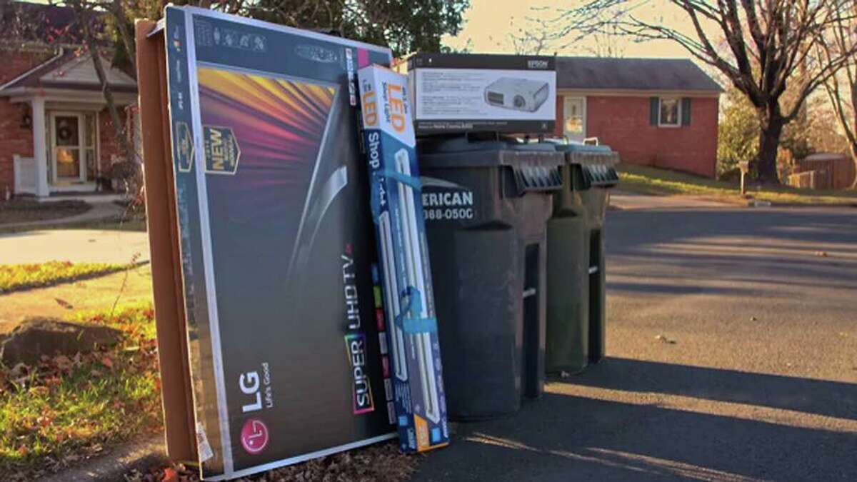 Law enforcement officials are urging residents to properly dispose of boxes from big-ticket Christmas presents.
