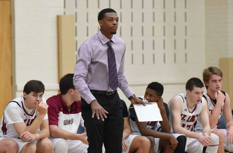 Former Norwalk High and Sacred Heart University standout basketball player Evan Kelley is currently an assistant coach at St. Luke's School in New Canaan. Photo: John Nash / Hearst Connecticut Media / Norwalk Hour