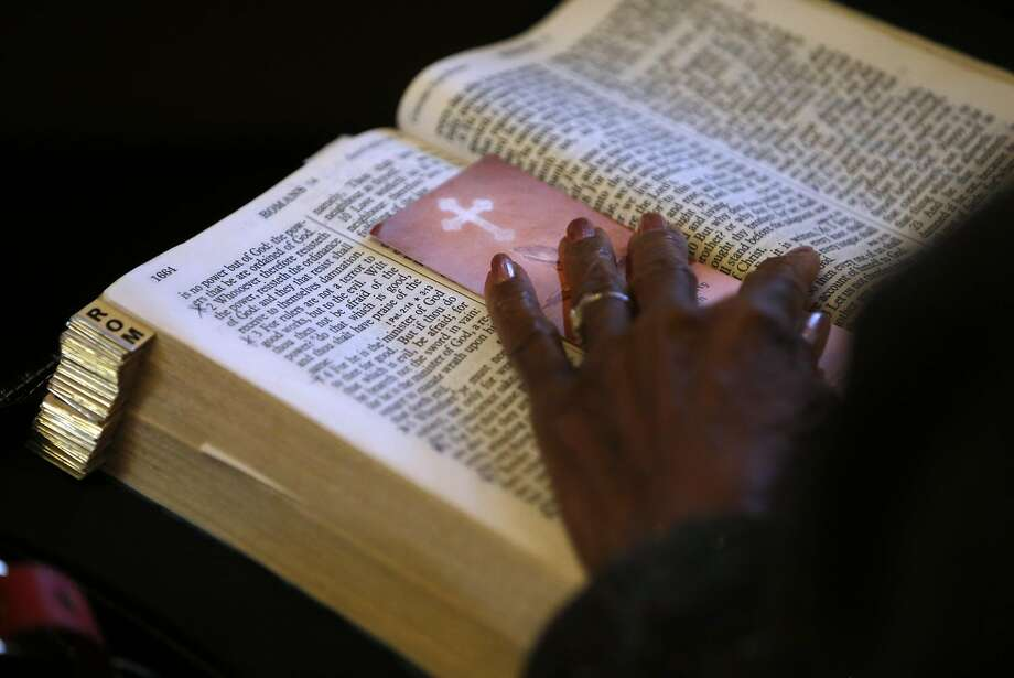 A Beth Eden Baptist Church member's Bible in Oakland. Photo: Scott Strazzante, The Chronicle