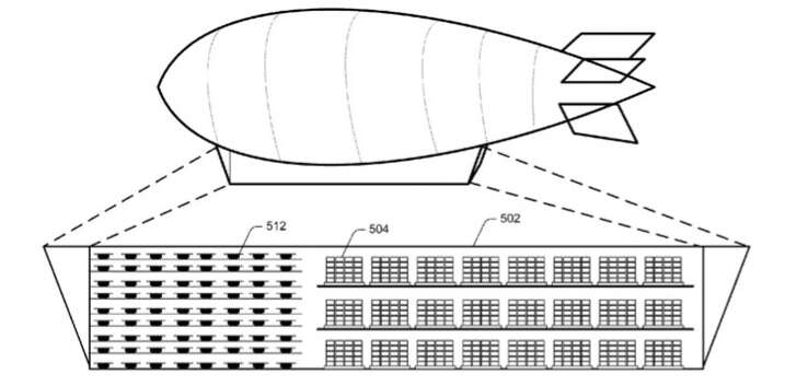 Amazon is exploring the use of airships as flying warehouses that could help it deliver more goods by drone.