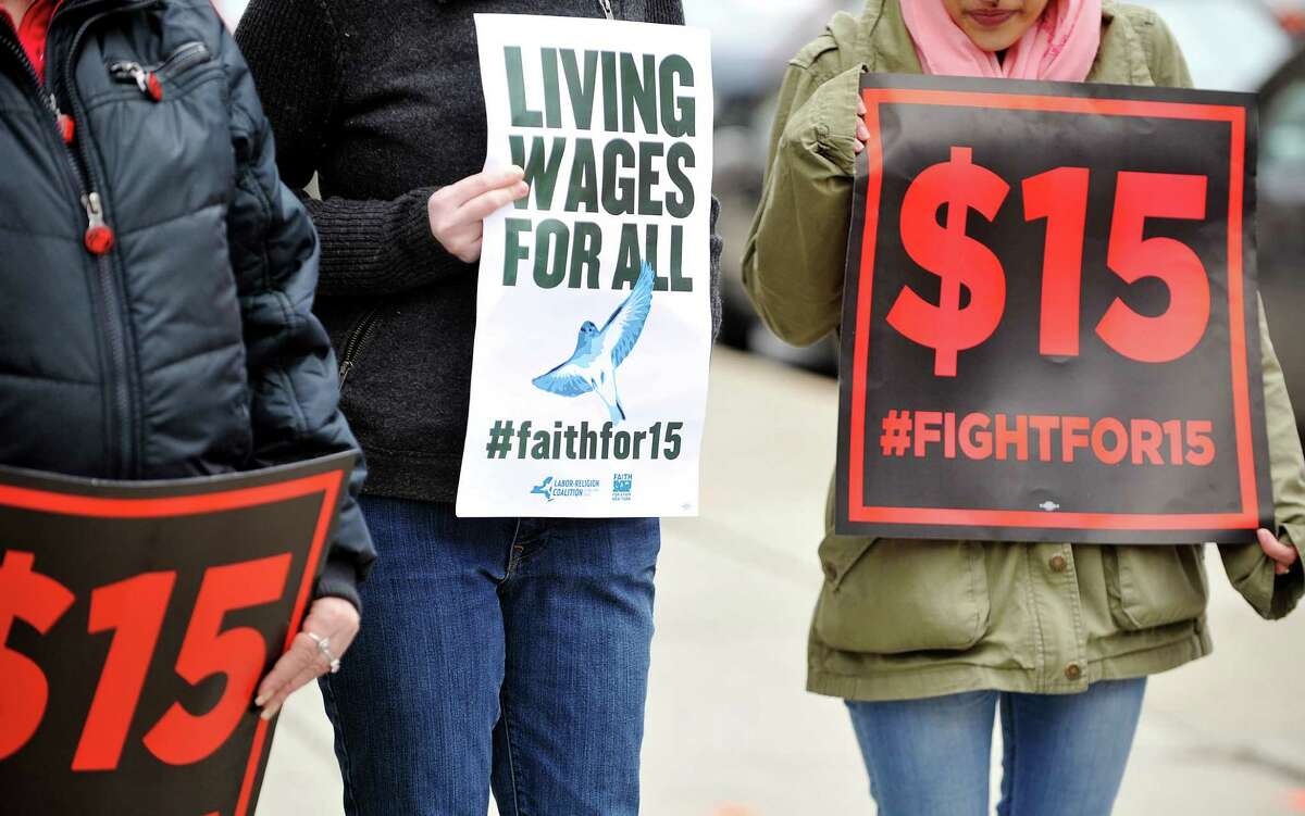 As of December 31, the state's minimum wage - currently $9 outside of New York City - rises to different levels depending on region: $9.70 for upstate; $10 on Long Island and in Westchester County; and $11 in New York City (or $10.50 for small businesses).