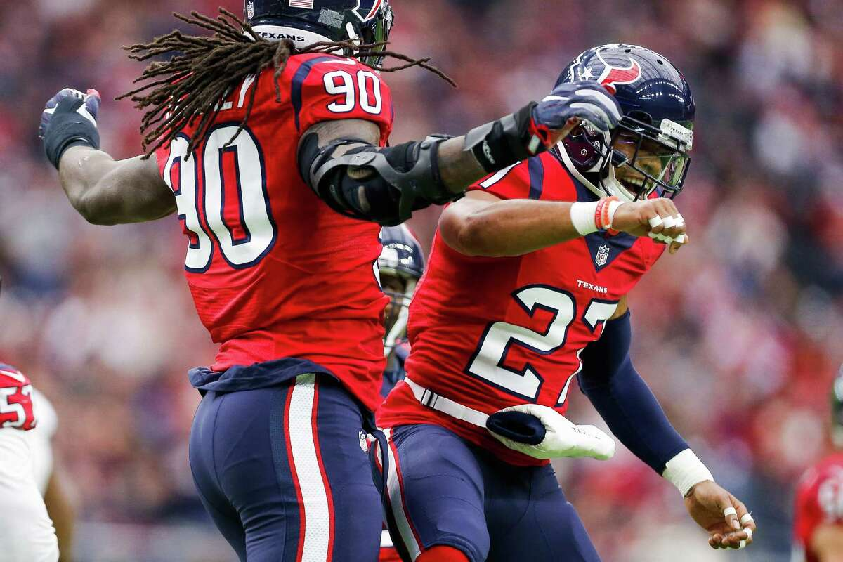 Quintin Demps, right, and Jadeveon Clowney are part of the NFL's top-ranked defense.