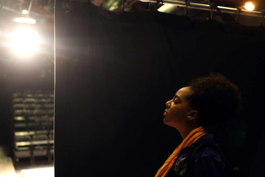 "Venus Morris backstage before rehearsal of ""Mama at Twilight: Death by Love."" Photo: Scott Strazzante, The Chronicle"