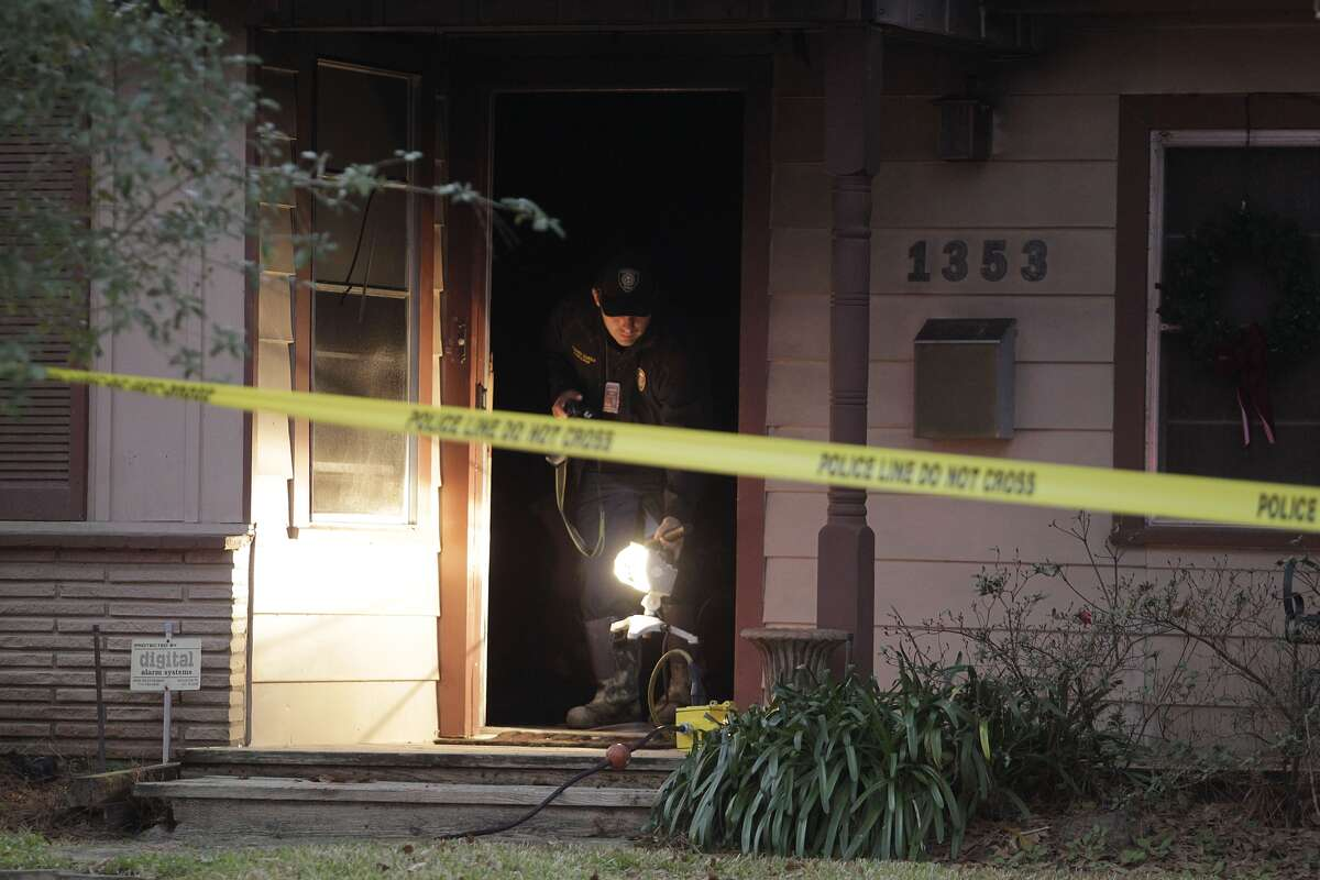 Three people were found dead after firefighters responded to a house fire about 5:30 a.m. Friday, Dec. 30, 2016, at a home in the 1300 block of Richelieu in northwest Houston. (Patric Schneider)