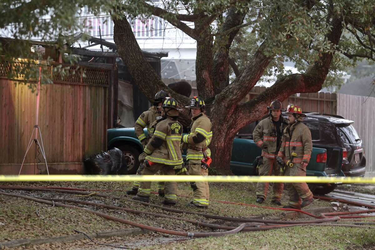 Three people died in a fire about 5:30 a.m. Friday, Dec. 30, 2016, at a house in the 1300 block of Richelieu in northwest Houston. (Patric Schneider)