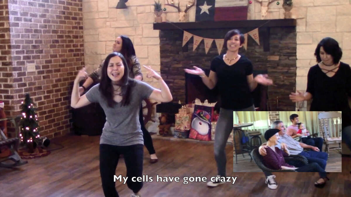 Stepsisters Cassie Bearden, Carlie Duplechin, Amy Garza and Leslie Romero modified the words to and choreographed a dance to the *NSYNC pop hit