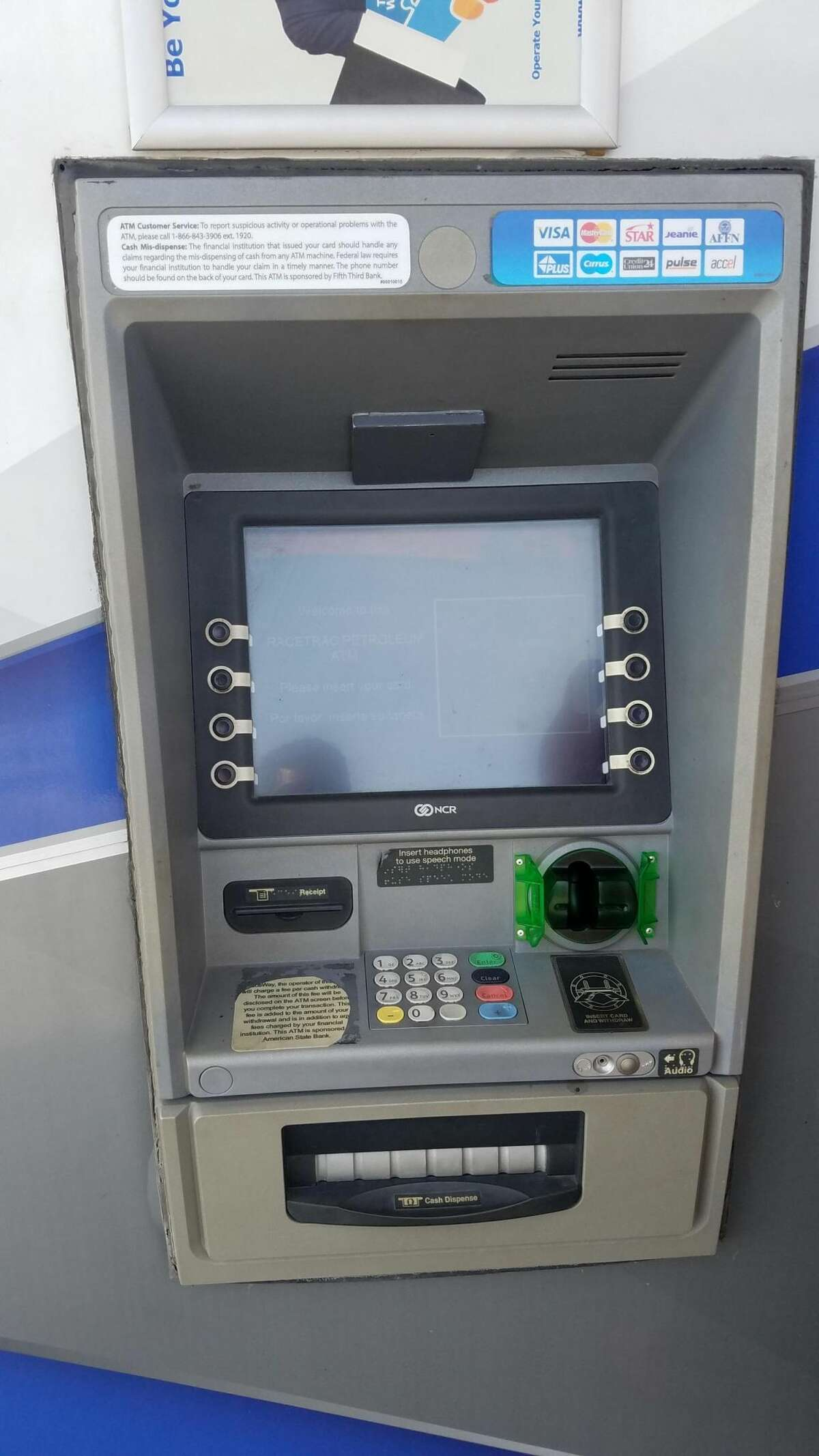 A theft device was allegedly spotted on an ATM machine in northwest Houston Thursday, Dec. 29, 2016.