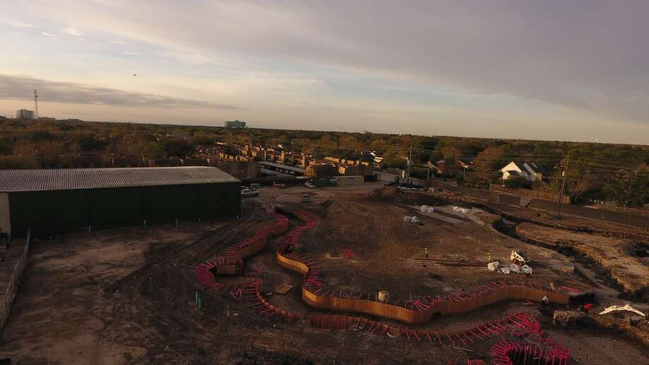 A 1,200-foot lazy river is being installed at Houston's Westside Tennis and Fitness club, 12 Wilcrest Dr.>>Click to see another aerial view. Photo: Linda McIngvale
