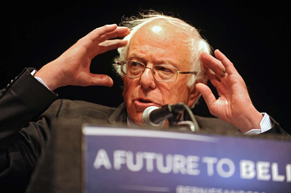 U.S. Sen. Bernie Sanders delivers his Where We Go From Here speech in The Egg of the Empire State Plaza on Friday, June 24, 2016 inAlbany, N.Y. (Lori Van Buren / Times Union)
