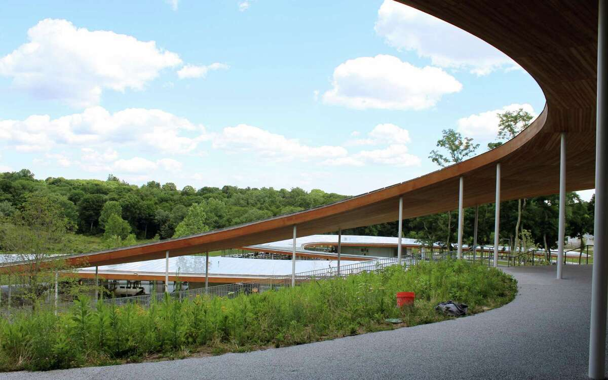 The River Building at Grace Farms won the Mies Crown Hall Americas Prize, an international architecture award.