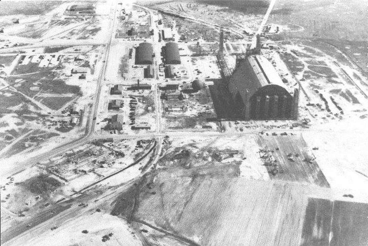 An aerial view of the base, photo undated.