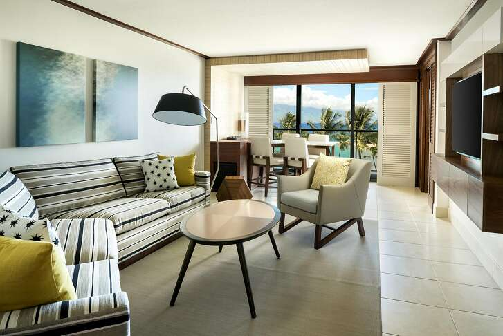 The 496 renovated guest rooms at the recently reopened Wailea Beach Resort include 47 suites.