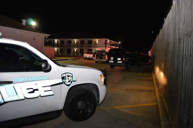 Police investigate a deadly shooting at Baymont Inn & Suites in Port Arthur. Photo taken Dec. 29, 2016.