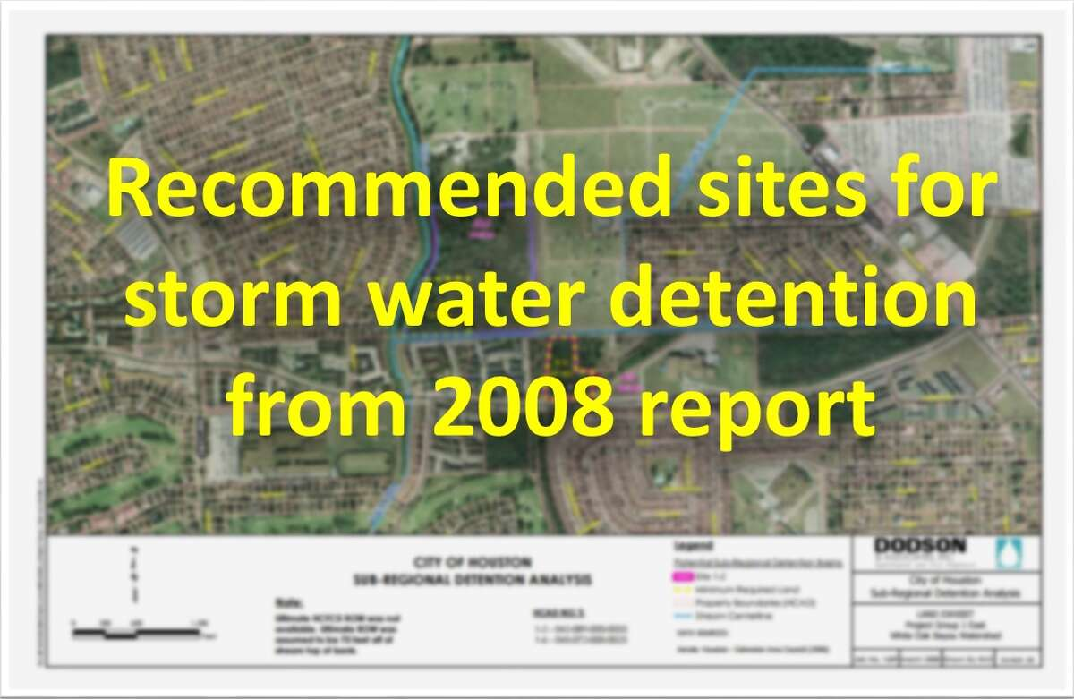 From theCity of Houston Sub-Regional Detention Master Plan