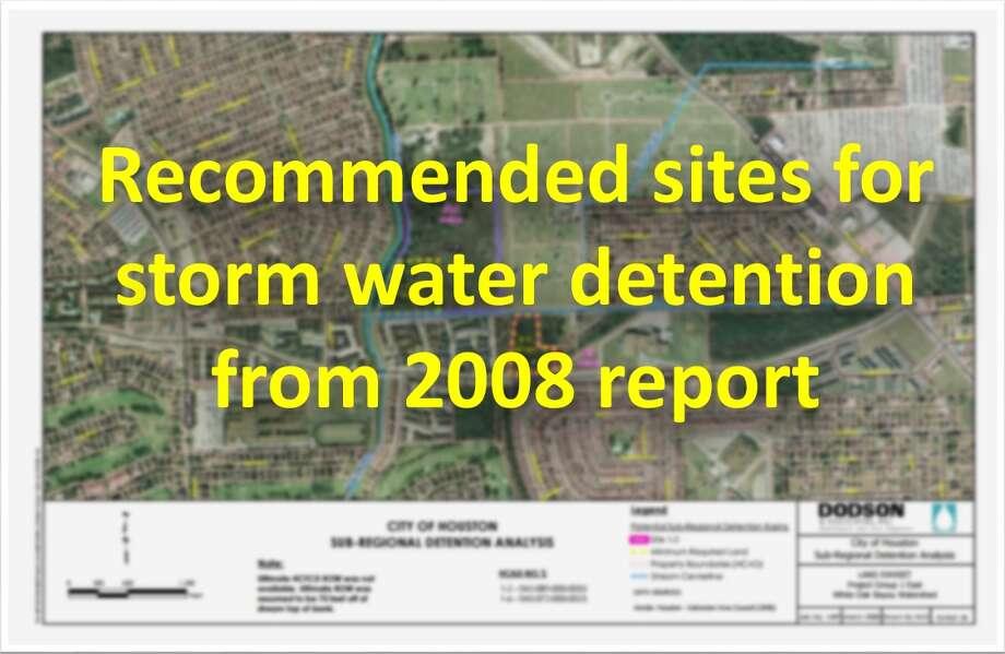 From theCity of Houston Sub-Regional Detention Master Plan Photo: City Of Houston