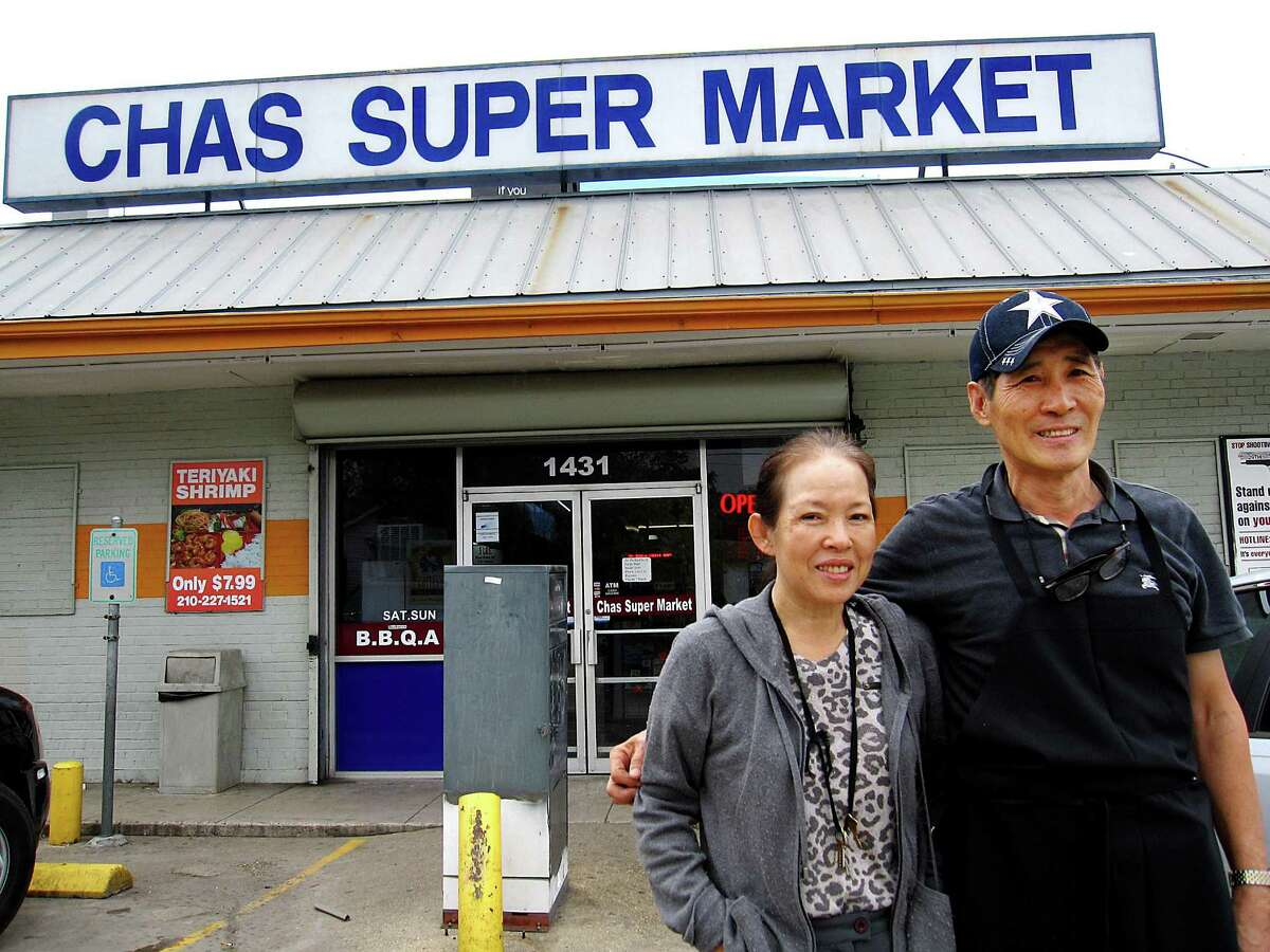 Hwa Youn Kim, left, and J.T. Kim own Chas Market & Kitchen on North Pine Street in San Antonio.