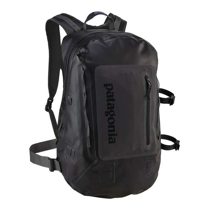 The Patagonia Stormfront Pack packs 30 liters of gear into a waterproof way to carry it all around with you.