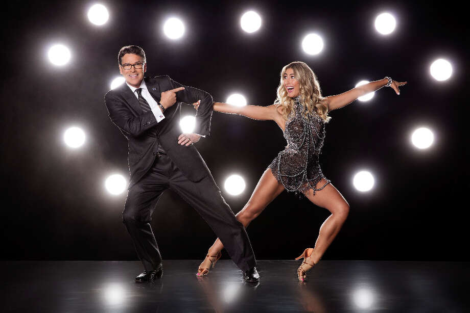 Former Texas governor Rick Perry and Emma Slater. Photo: ABC / © 2016 American Broadcasting Companies, Inc. All rights reserved.