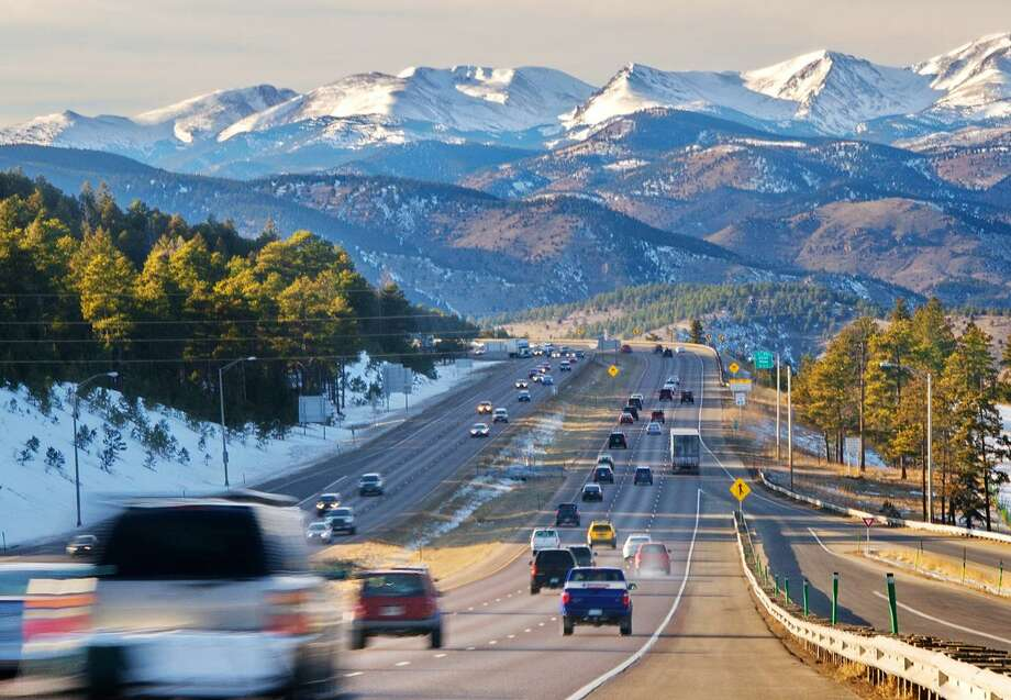 Cars head toward the mountains in Denver. Denver made at least one list of top travel destinations for 2017. Photo: Courtesy VISIT DENVER / DirectToArchive