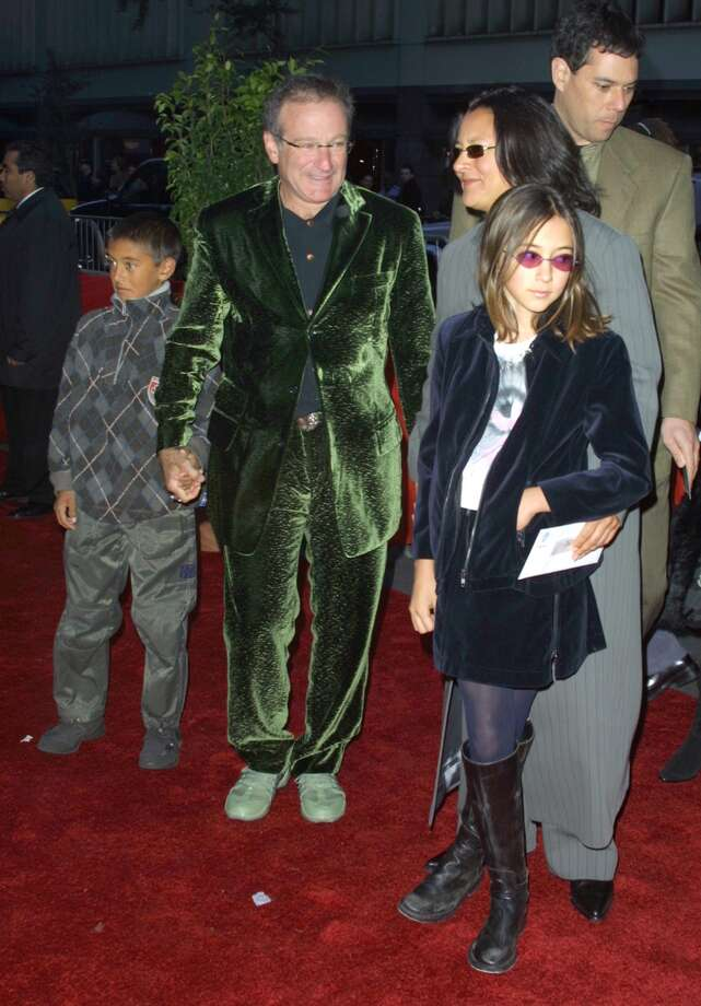 Robin Williams, wife Marcia & their Children during Harry Potter and The Sorcerer's Stone New York Premiere at The Ziegfeld Theatre in New York City, New York, United States. (Photo by Jim Spellman/WireImage)