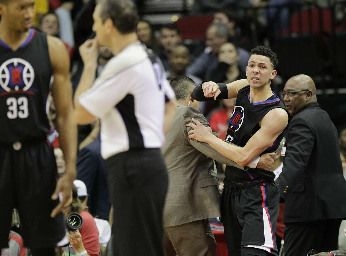 PHOTOS: A lookback at what sparked the Rockets-Clippers feud in January LA Clippers guard Austin Rivers (25) looks at official J.T. Orr after being ejected from the game during the first half of NBA game action between Los Angeles Clippers vs. Houston Rockets on Friday, Dec. 30, 2016, in Houston. ( Elizabeth Conley / Houston Chronicle )