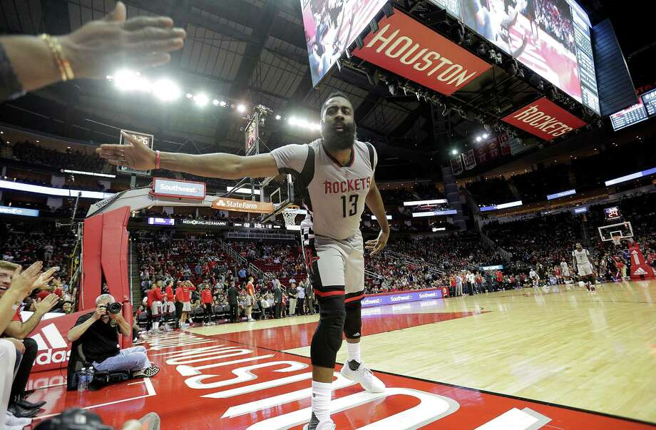 The Rockets' James Harden had another triple-double in the victory over the Clippers - his seventh this season - with 30 points, 10 assists and 13 rebounds. Photo: Elizabeth Conley, Staff / © 2016 Houston Chronicle