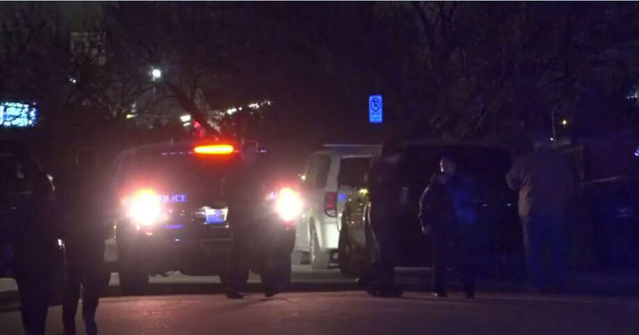 A suicidal Fort Worth man was shot after firing arrows at police Friday night. Photo: Metro Video