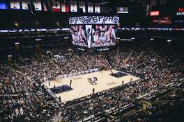 Basketball fans hit the AT&T Center for the last San Antonio Spurs game of the year on Friday, Dec. 30, 2016. The home team outshined the Portland Trail Blazers, 110-94.