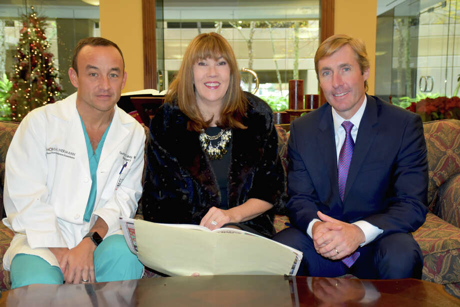 From left to right: Geoffrey P. Zubay, M.D., Cathy Nash and Josh Urban. Photo: Submitted
