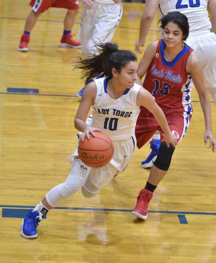 Larizza Cantu had 13 points and four steals for Cigarroa on Saturday. The Lady Toros lost a pair of games to finish in fourth place overall in the tournament in La Joya. Photo: Cuate Santos /Laredo Morning Times File / Laredo Morning Times